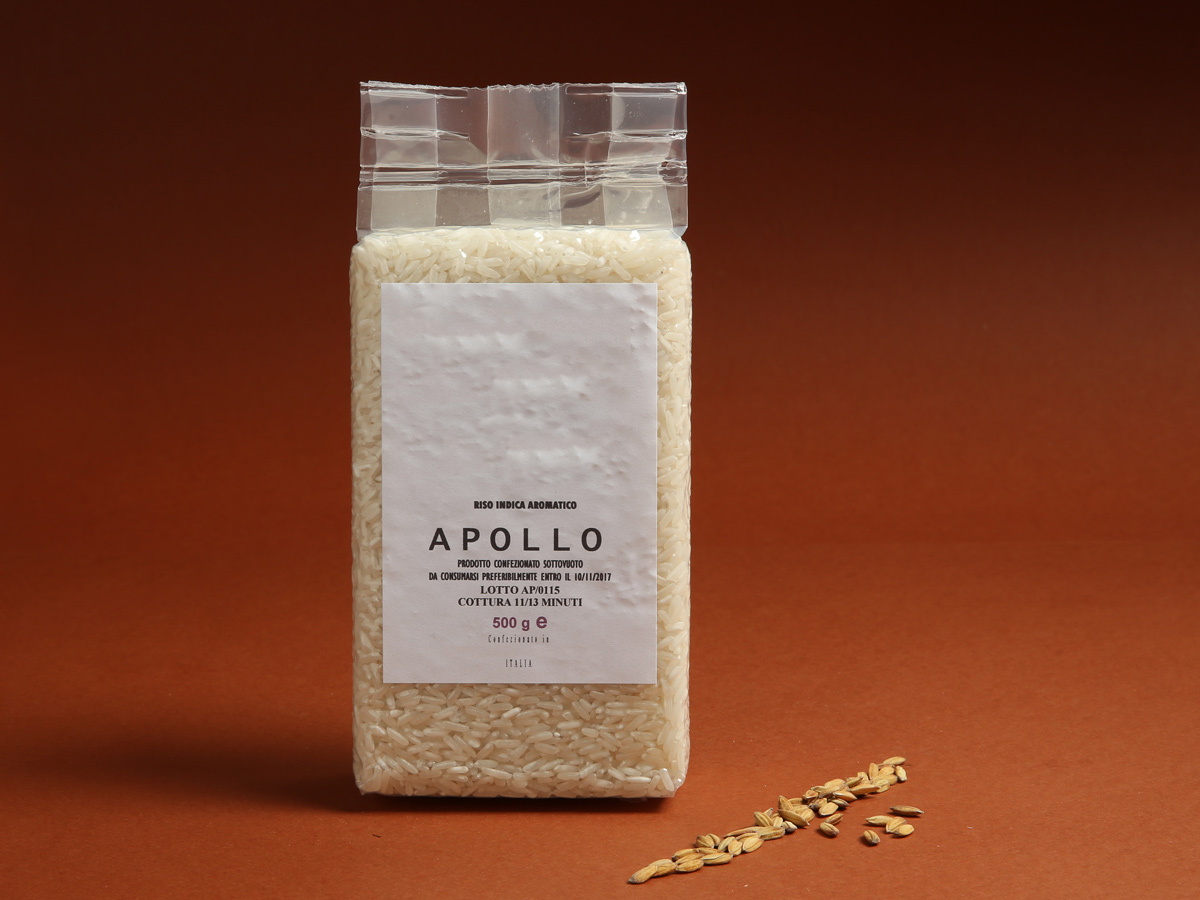Riseria Re Carlo - Riso indica aromatico Apollo - l'autentico riso vercellese di qualità - confezioni da 500gr