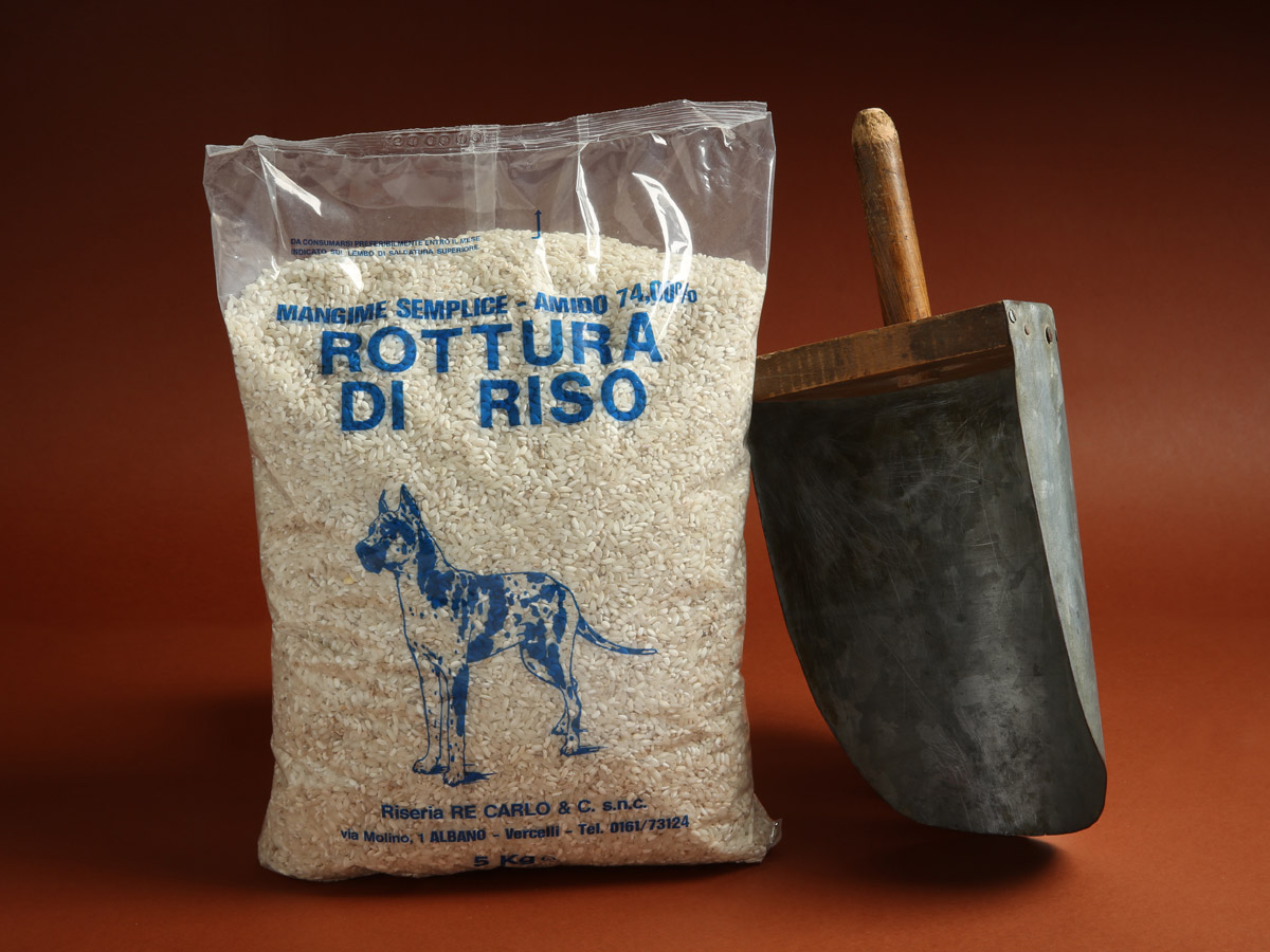 Riseria Re Carlo - Rottura di Riso - Per l'alimentazione dei nostri amici a quattro zampe - confezioni da 5kg