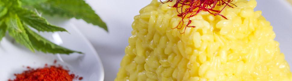 Riseria Re Carlo - Ricetta risotto allo zafferano foto - Riso italiano di qualità dalle pianure vercellesi