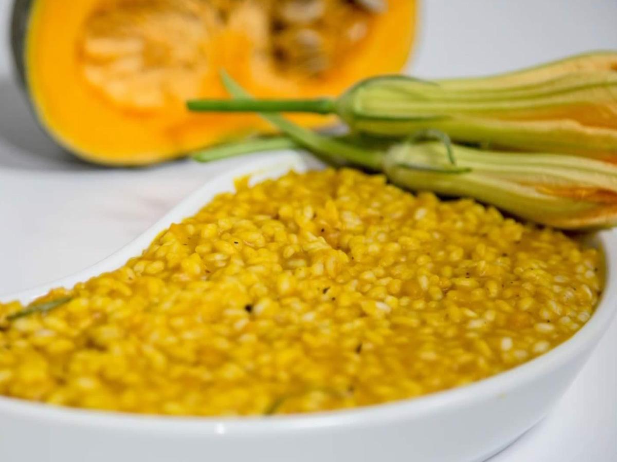 Riseria Re Carlo - Riso con la zucca - Foto ricetta impiattata