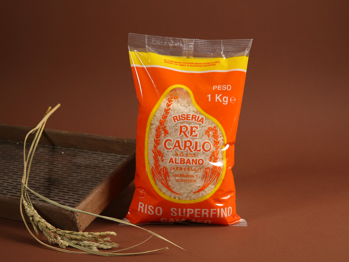 Riseria Re Carlo - Riso superfino Cammeo - l'autentico riso vercellese di qualità - confezioni da 1kg, 2kg, 5kg e natalizie