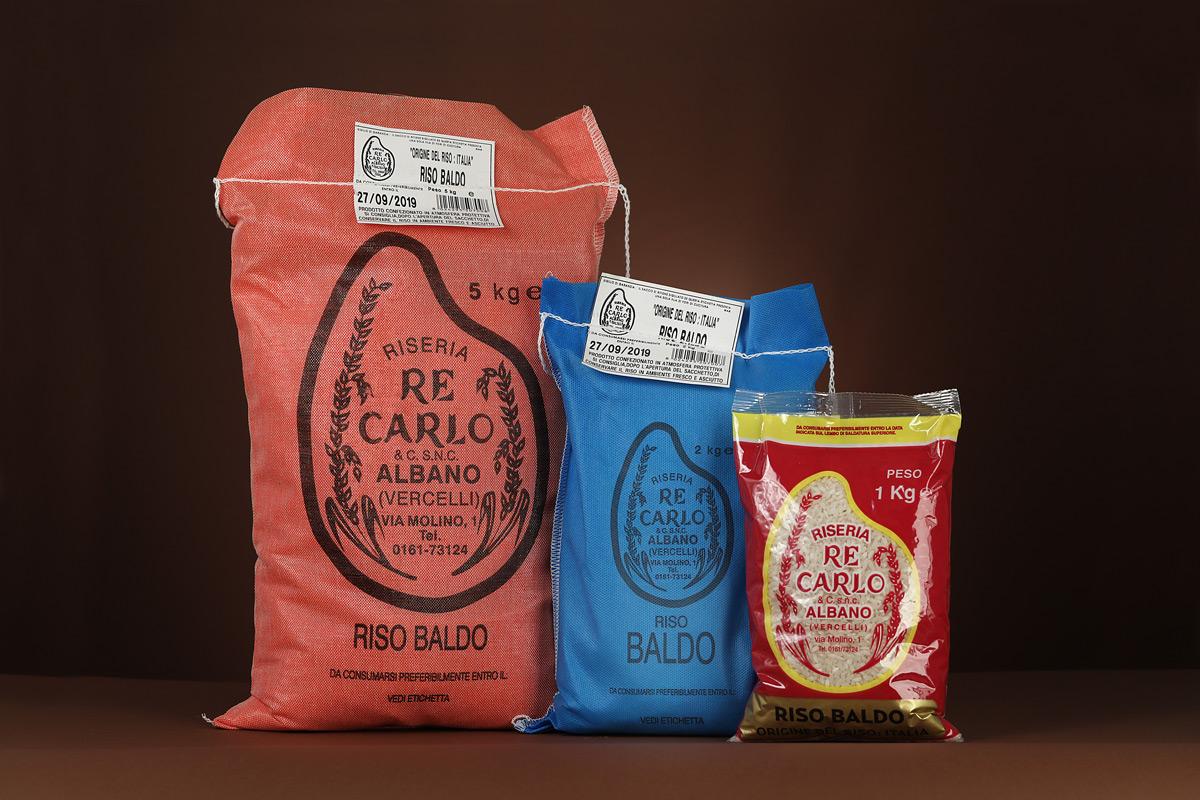 Riseria Re Carlo - Riso Baldo - l'autentico riso vercellese di qualità - confezioni da 1kg, 2kg, 5kg e natalizie