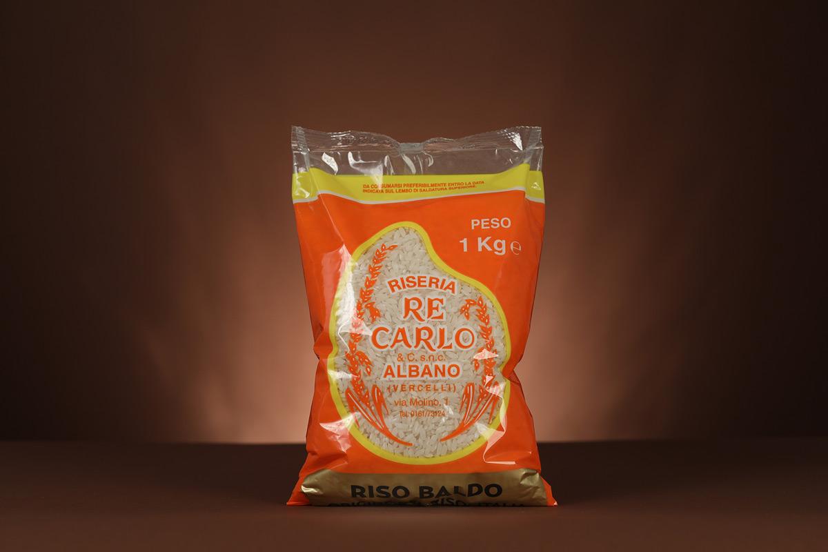 Riseria Re Carlo - Riso Baldo da Riso Cammeo - l'autentico riso vercellese di qualità - confezioni da 1kg