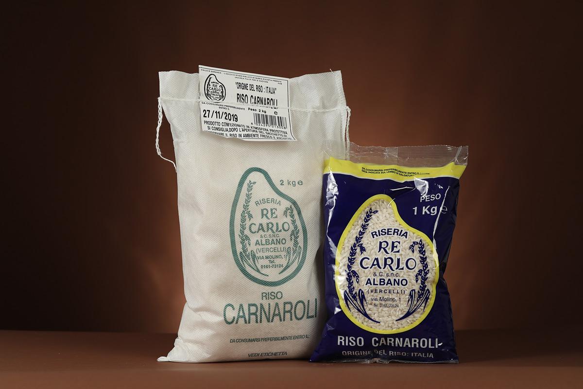 Riseria Re Carlo - Riso Carnaroli - l'autentico riso vercellese di qualità - confezioni da 1kg, 2kg, 5kg e natalizie