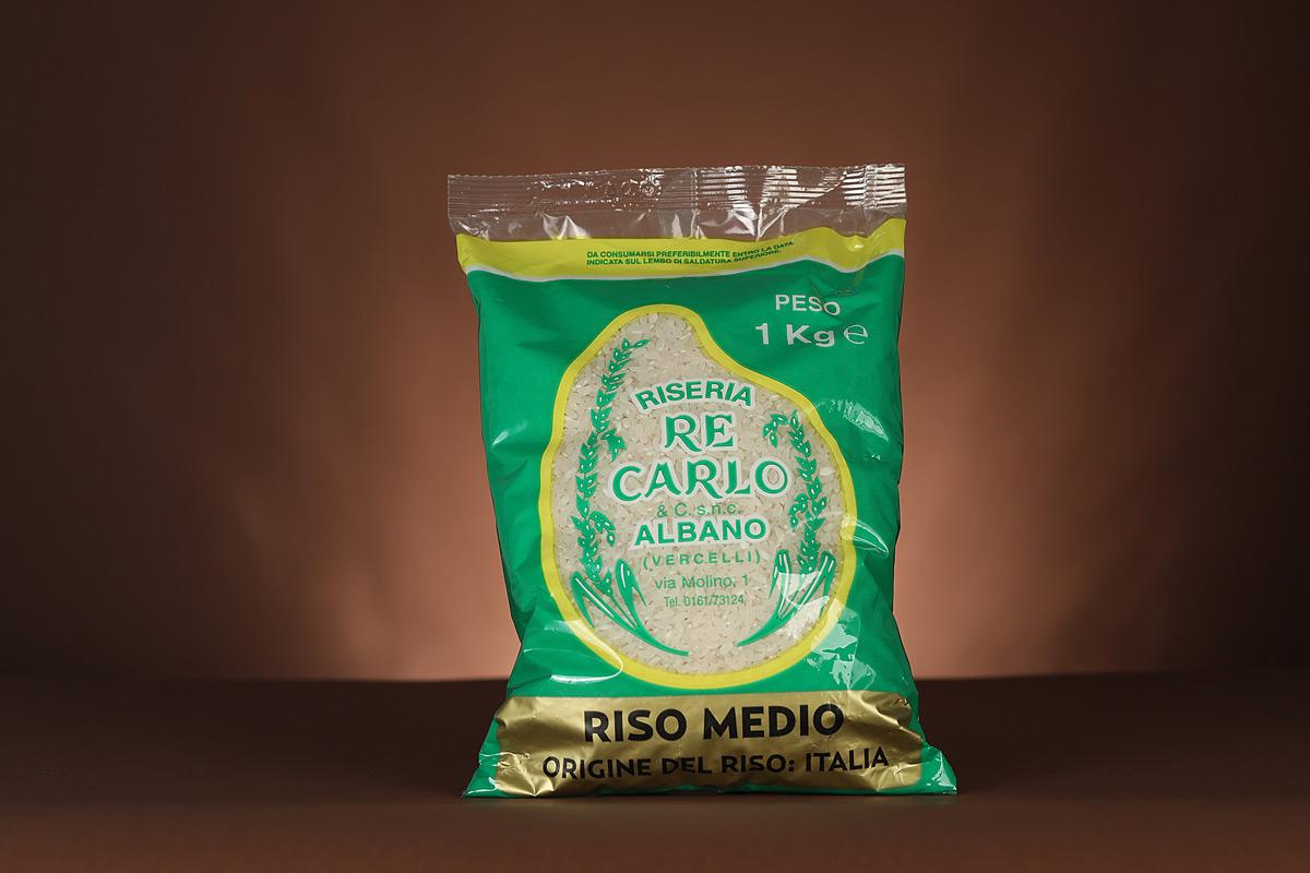 Riseria Re Carlo - Riso medio da Rosamarchetti - l'autentico riso vercellese di qualità - confezioni da 1kg, 2kg e 5kg